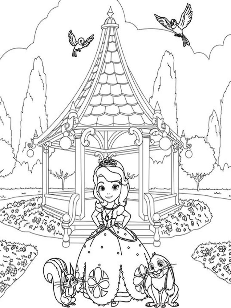 Prenses Sofia 1 ücretsiz Boyama Resimleri