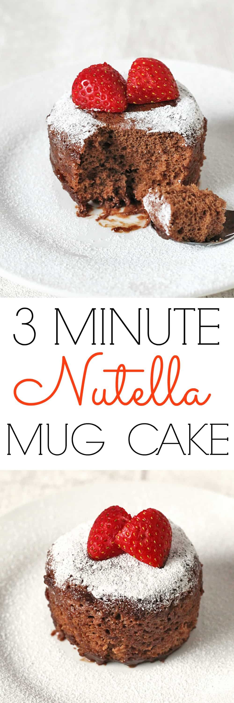 Nutella Microwave Mug Cake - My Fussy Eater | Healthy Kids ...