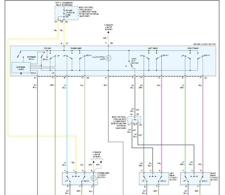Pontiac G6 Convertible Power Window Wire Diagram
