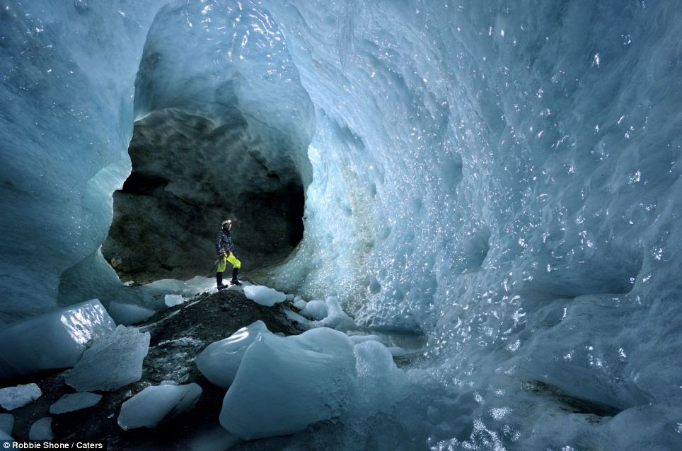 Mr Shone said he is now fascinated with the ice caves and wants to visit them again