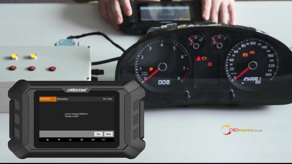 Obdstar Odo Mästare VW Passat vägmätare Correction 11