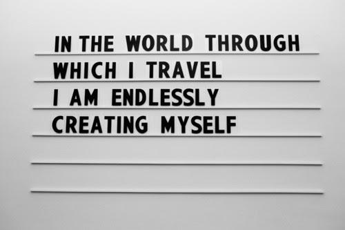 create + travel = life
