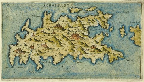 Scharpanto - map of Karpathos, Greece