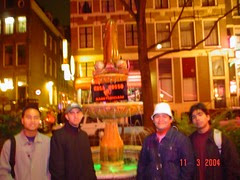 Penis Fountain di Red Light District, Amsterdam, Netherlands