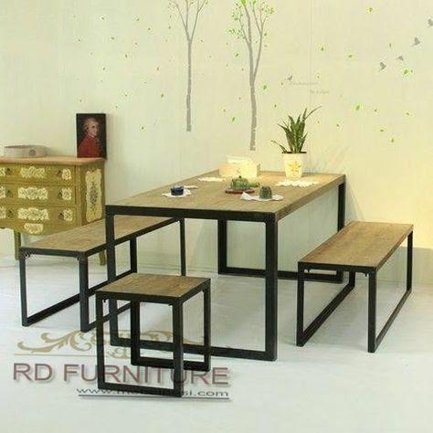meja makan minimalis dari besi holo