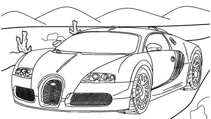 Bugatti Coloring Page | Coloringnori - Coloring Pages for Kids