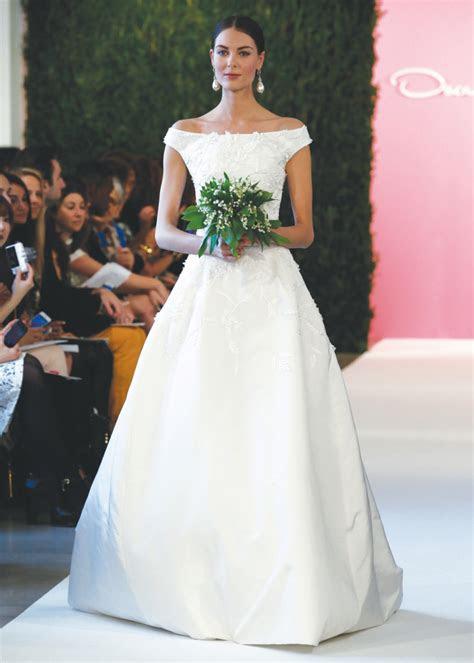 oscar de la renta classic ballgown wedding dress