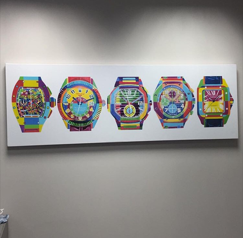 5 Pop Art Watches (Limited Edition of 10) - Diamond Canvas Ltd