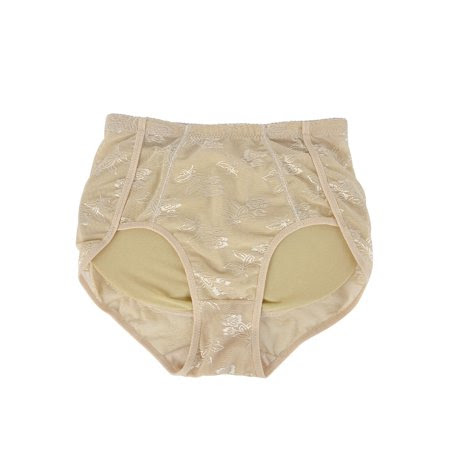 Women's High Waist Slimming Hold Buttocks Tummy Shaper Stretchy Briefs Beige (Size M \/ 8i i