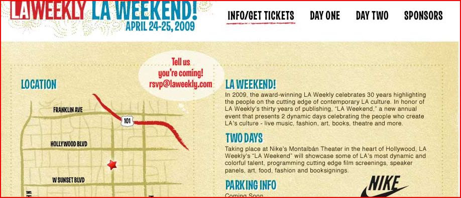 LA Weekly Weekend April 24-25 2009