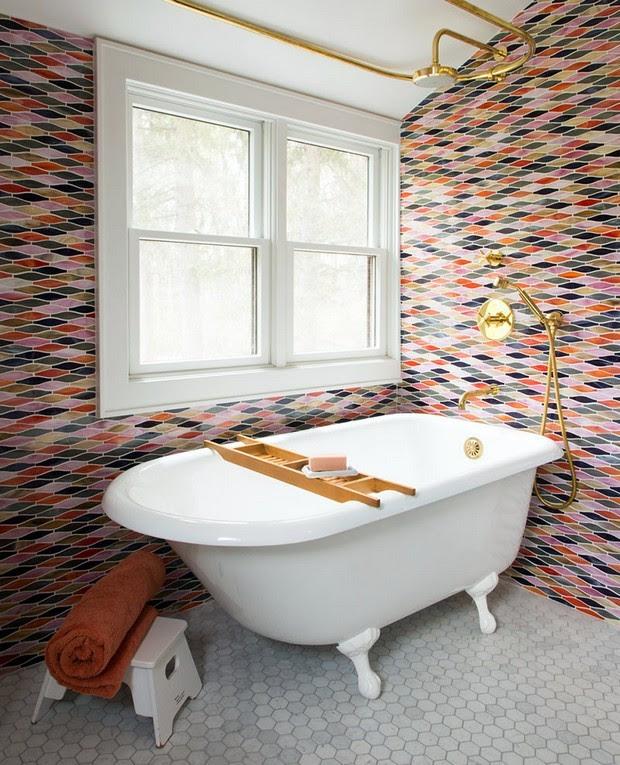 25 Impressive Multi Colored Tile Bathroom Design Ideas ...