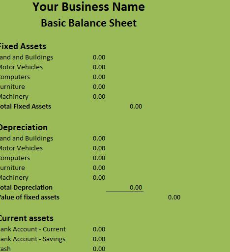 Basic Balance Sheet1