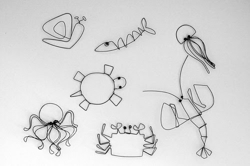 Sea Creature Wirework Models