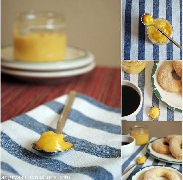 Angry Asian Creations: Baked Donuts & Orange Curd ~ Bonheur