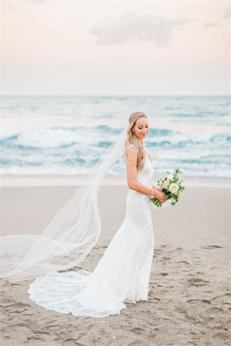 Seafoam White And Green Jupiter Beach Resort Wedding