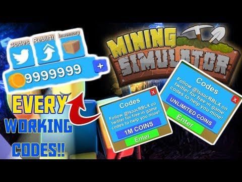 100 New Codes For Roblox Mining Simulator Hack