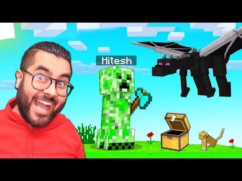 Playing As CREEPER in Minecraft   Hitesh KS