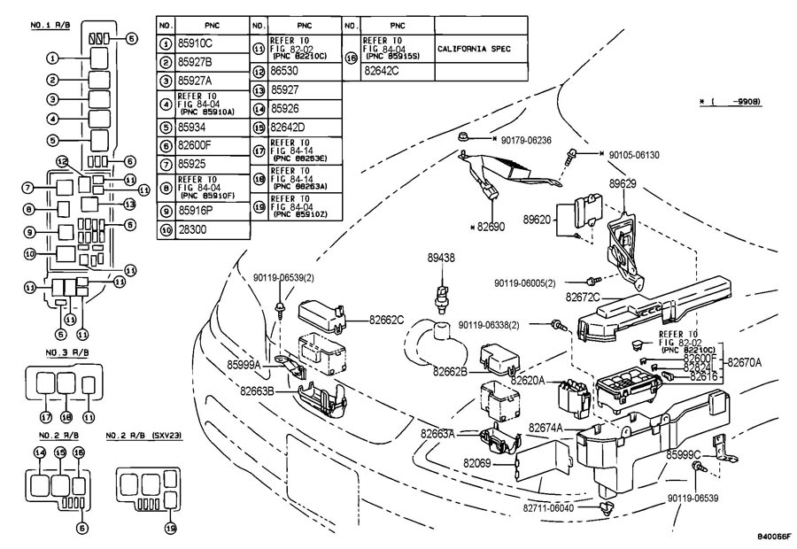 34 1997 Toyota Camry Parts Diagram