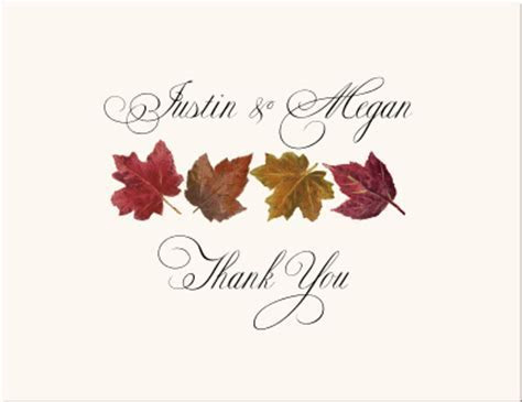 Autumn Theme Wedding Save the Date Cards Fall Wedding