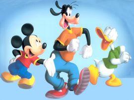 Papel de parede 'Mickey Pateta e Donald'