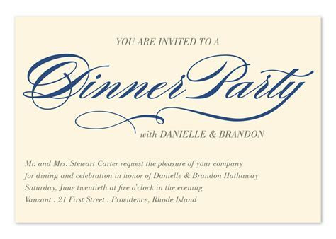 Invited to Dinner   Corporate Invitations by Invitation