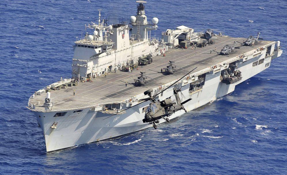 Foto: El buque 'HMS Ocean' de la Armada británica. (Foto: Wikimedia Commons)