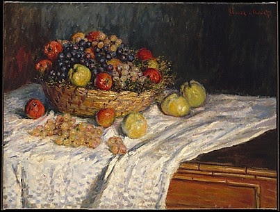 Apples and Grapes Claude Monet (French, Paris 1840–1926 Giverny) Date: ca. 1879–80 Courtesy of The Metropolitan Museum of Art.
