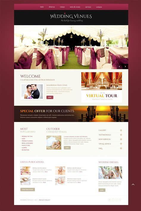 Wedding Venues Responsive Website Template #44755