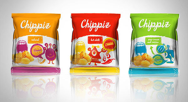 Chippiz Chips Packaging Design 4 30+ Crispy Potato Chips Packaging Design Ideas