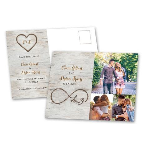 Birch Beauty Save the Date Postcard   Ann's Bridal Bargains