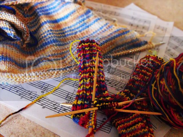 knitting and composing