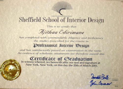 Basic Interior Design Certificate | Decoratingspecial.com