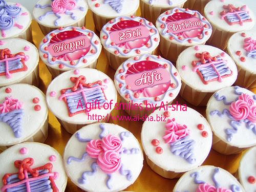 Birthday Cupcakes Edible Image