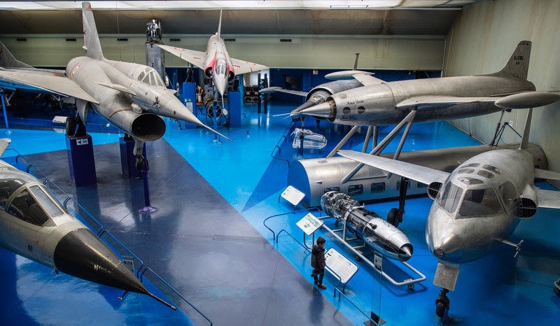 Jet prototypes at Musée de l'air, Paris