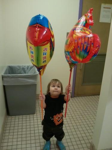 Balloon lanterns!
