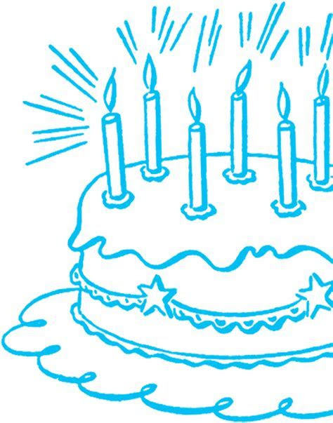 Vintage Birthday Cake Line Art   The Graphics Fairy