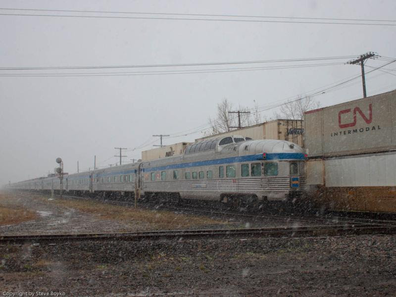 VIA's Canadian train in Winnipeg