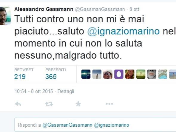 Il tweet di Alessandro Gassmann