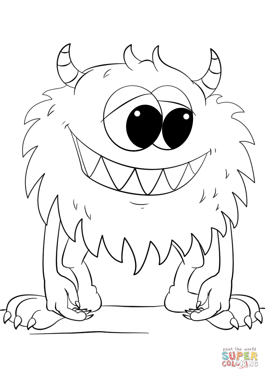 850 Coloring Pages Monsters Download Free Images