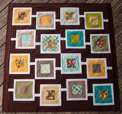 Sanctuary Squares baby quilt top