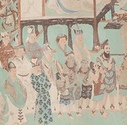 Foreign dignitaries, Cave 85, Tang dynasty