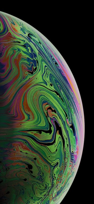 Download The 3 Iphone Xs Max Wallpapers Of Bubbles Osxdaily