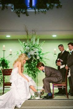 A Feet Washing Ceremony is a beautiful idea for a