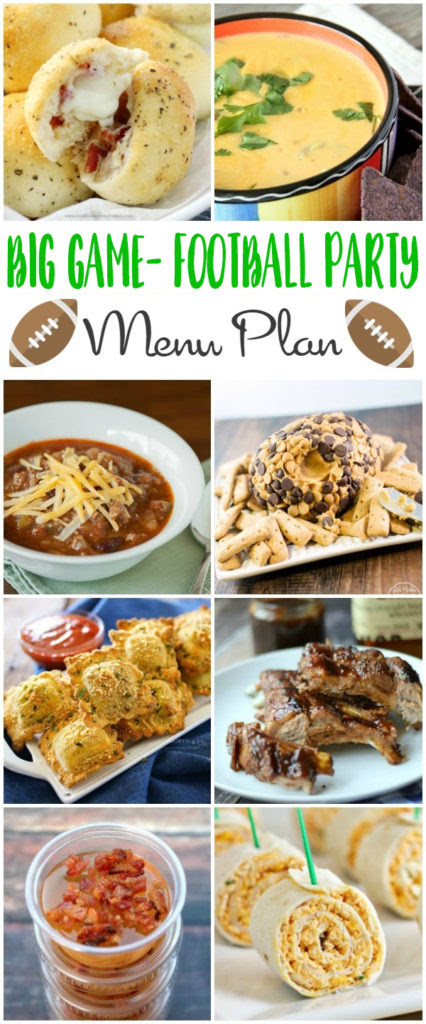Big Game Football Party Menu Plan - Kleinworth and Co - HMLP 118 Feature