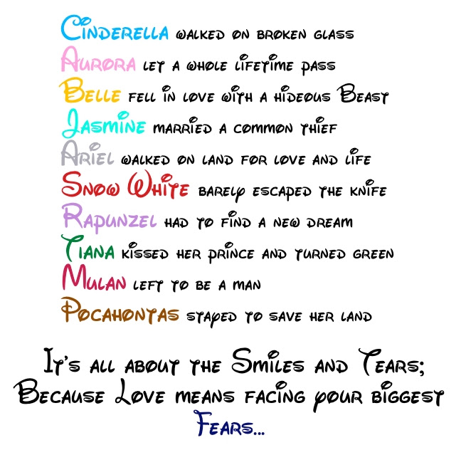 Disney Princess Love Quote - Disney Princess Fan Art ...