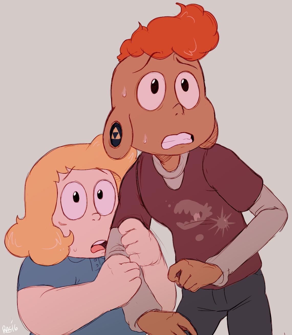 Some kids n' a bird-mom