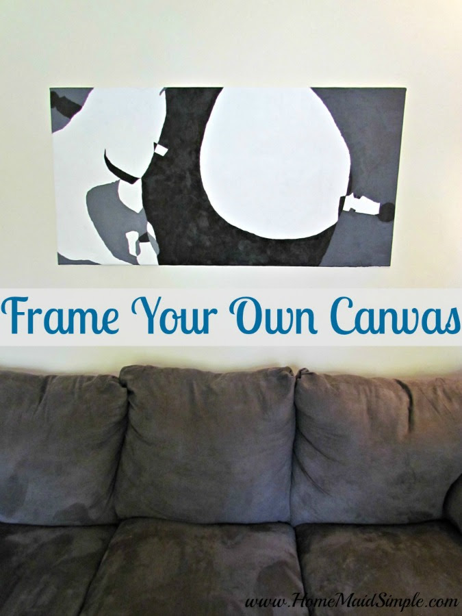 One Room Challenge Frame Your Own Canvas Diy Home Maid Simple