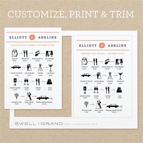 6 Best Images of Reception Agenda Printable   Wedding