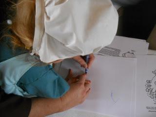 More Sue & Children Working on Crafts
