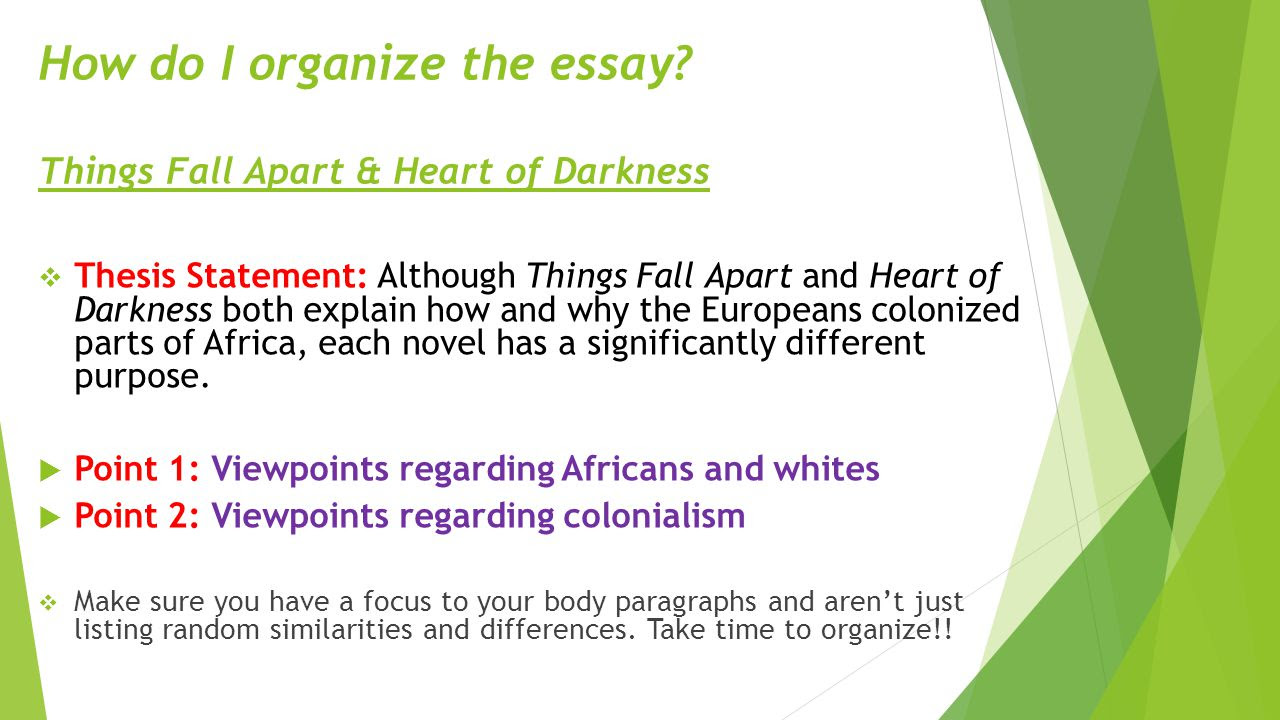 Things Fall Apart Thesis Statement Ideas